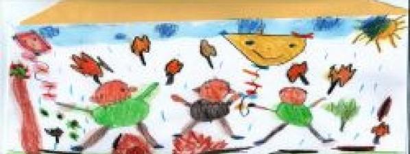 Draky nakresliy děti ze Sluníček