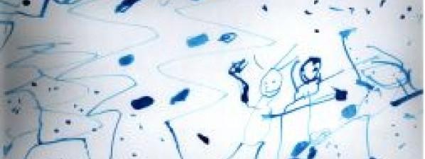 Vánoční obrázek nakreslily děti ze Sluníček